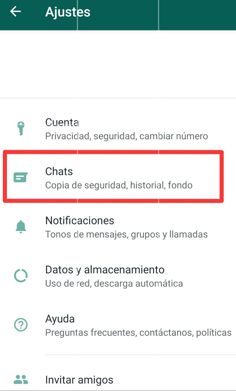 Aumentar tamaño letras WhatsApp